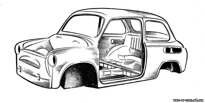 Каркаса кузова автомобиль заз 965